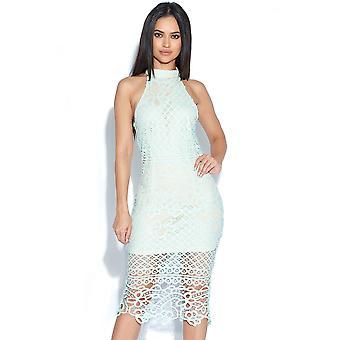 Crochet Neck Lace Dress
