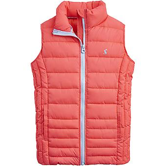Joules Girls ODR Croft Printed Quilted Body Warmer Gilet