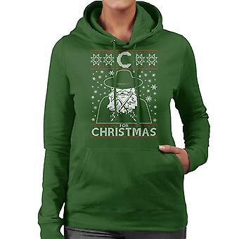 C For Christmas V For Vendetta Women's Hooded Sweatshirt