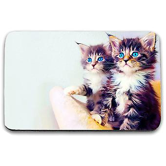 i-Tronixs - Cat Printed Design Non-Slip Rectangular Mouse Mat for Office / Home / Gaming - 1