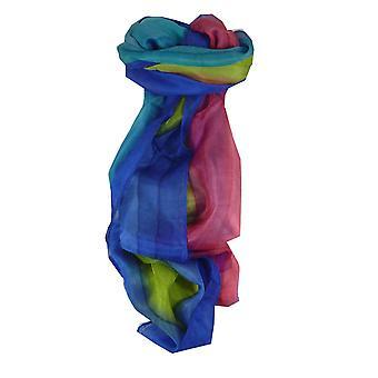 Maulbeer Seide Hand gefärbt Sen Regenbogenpalette langer Schal aus Pashmina & Seide