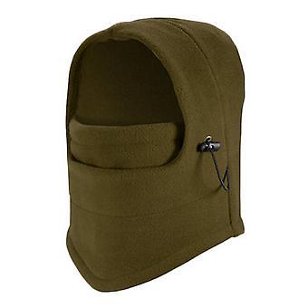 TRIXES Unisex Half Face Fleece Balaclava Hood – Green