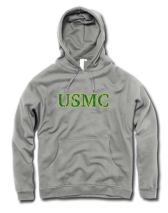 Para hombre con capucha - USMC - militar - lema