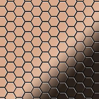 Mosaïque en métal massif Cuivre ALLOY Honey-CM