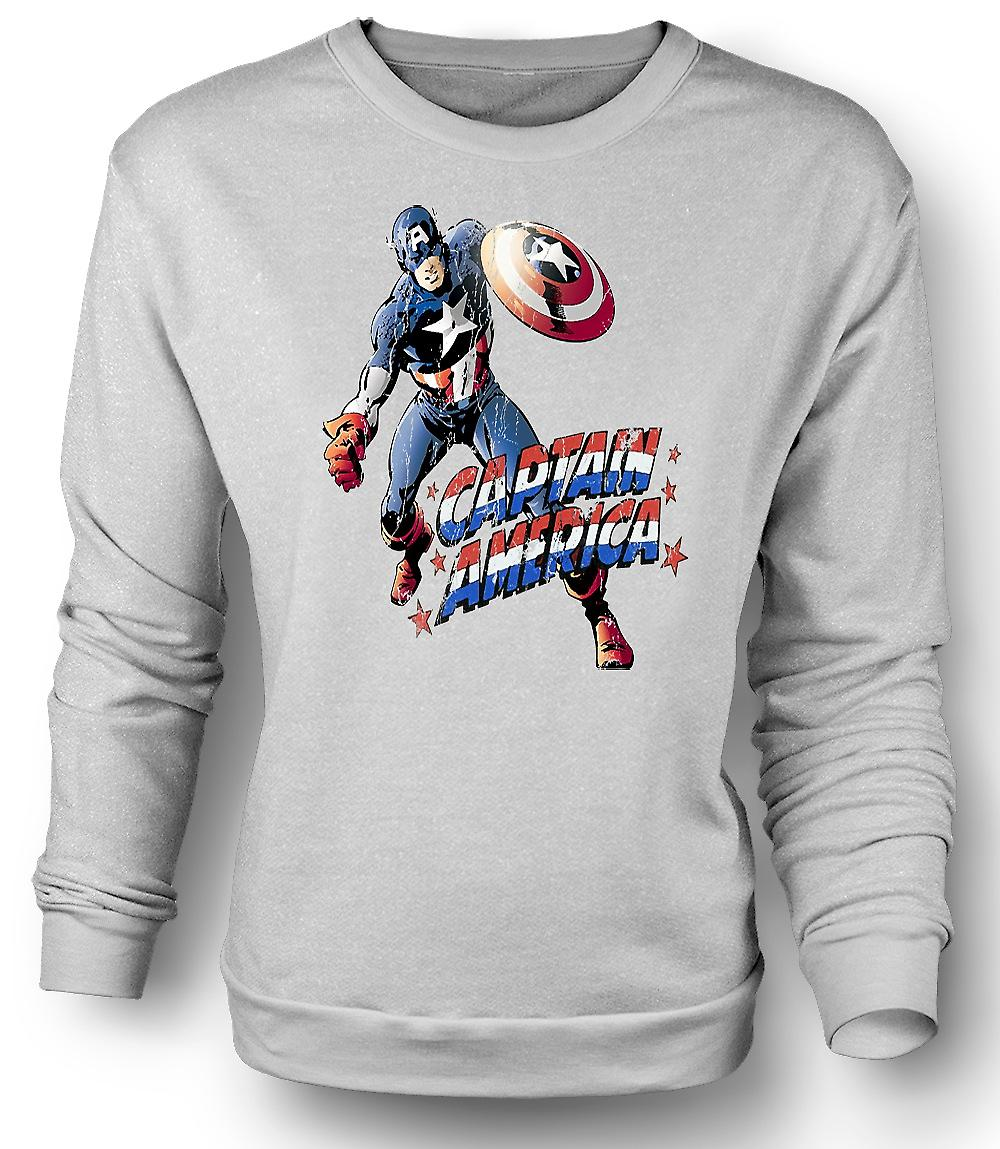 Mens Sweatshirt Captain America - komiske Hero