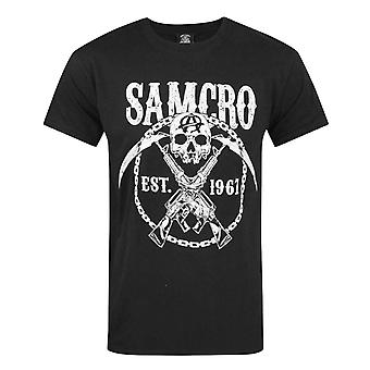 Sons Of Anarchy croisent T-Shirt noir canons homme