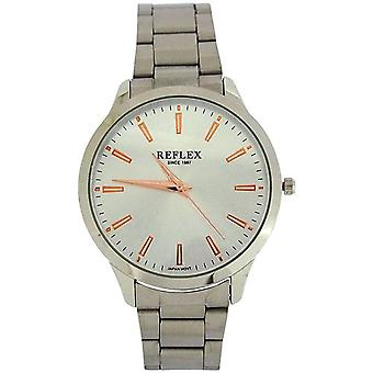 Gents reflex analogica Silvertone Dial & Bracciale cinturino Dress Watch REF0075