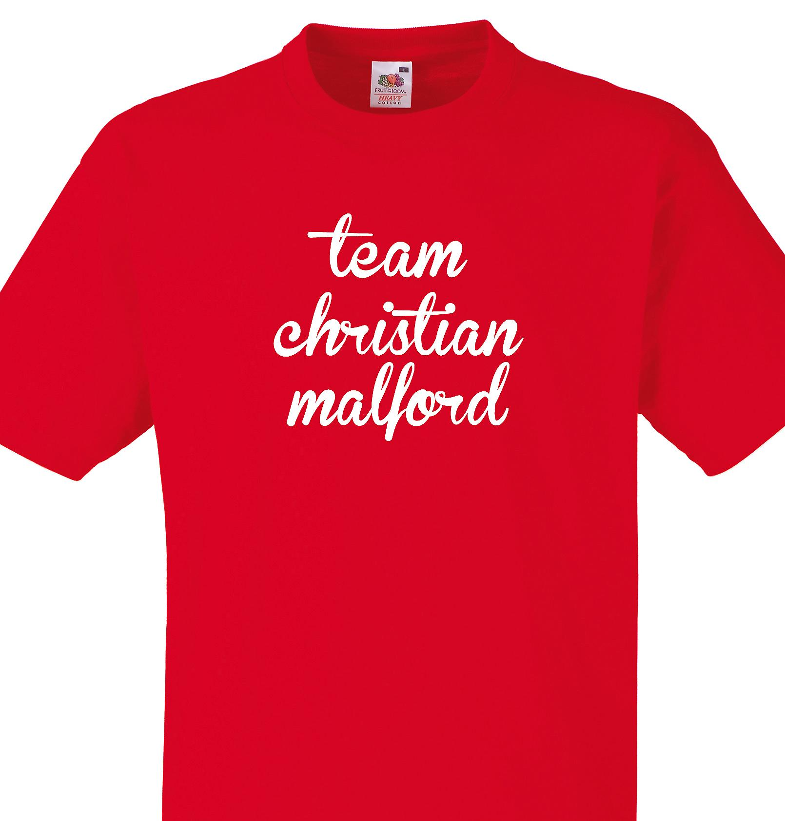 Team Christian malford Red T shirt