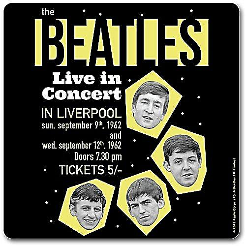 Beatles Live In Liverpool 1962 drinks mat / coaster (ro) (1)