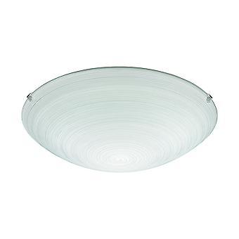 Eglo - Malva 1 luz moderno parede/teto luz de níquel acabamento mate com máscara de vidro (médio) EG90015