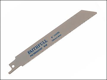 Faithfull Bi-Metal Sabre Saw Blade Metal S922BF (Pack of 5)