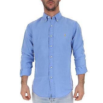 Camicia in cotone blu Ralph Lauren luce