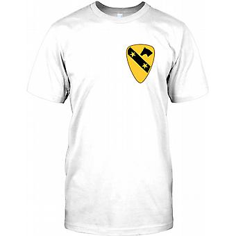 US Army 1st Cavalry - Chest Logo Mens T Shirt