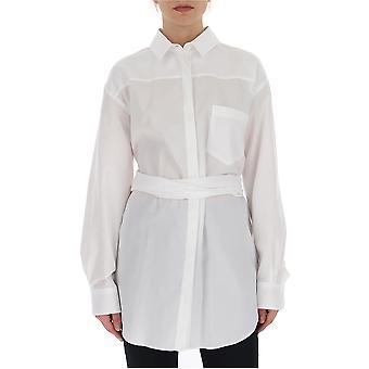 Camisa de algodón blanco de Prada