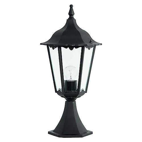 Endon YG-3006 Traditional Black Aluminium Outdoor 6-Sided Piller Post Top