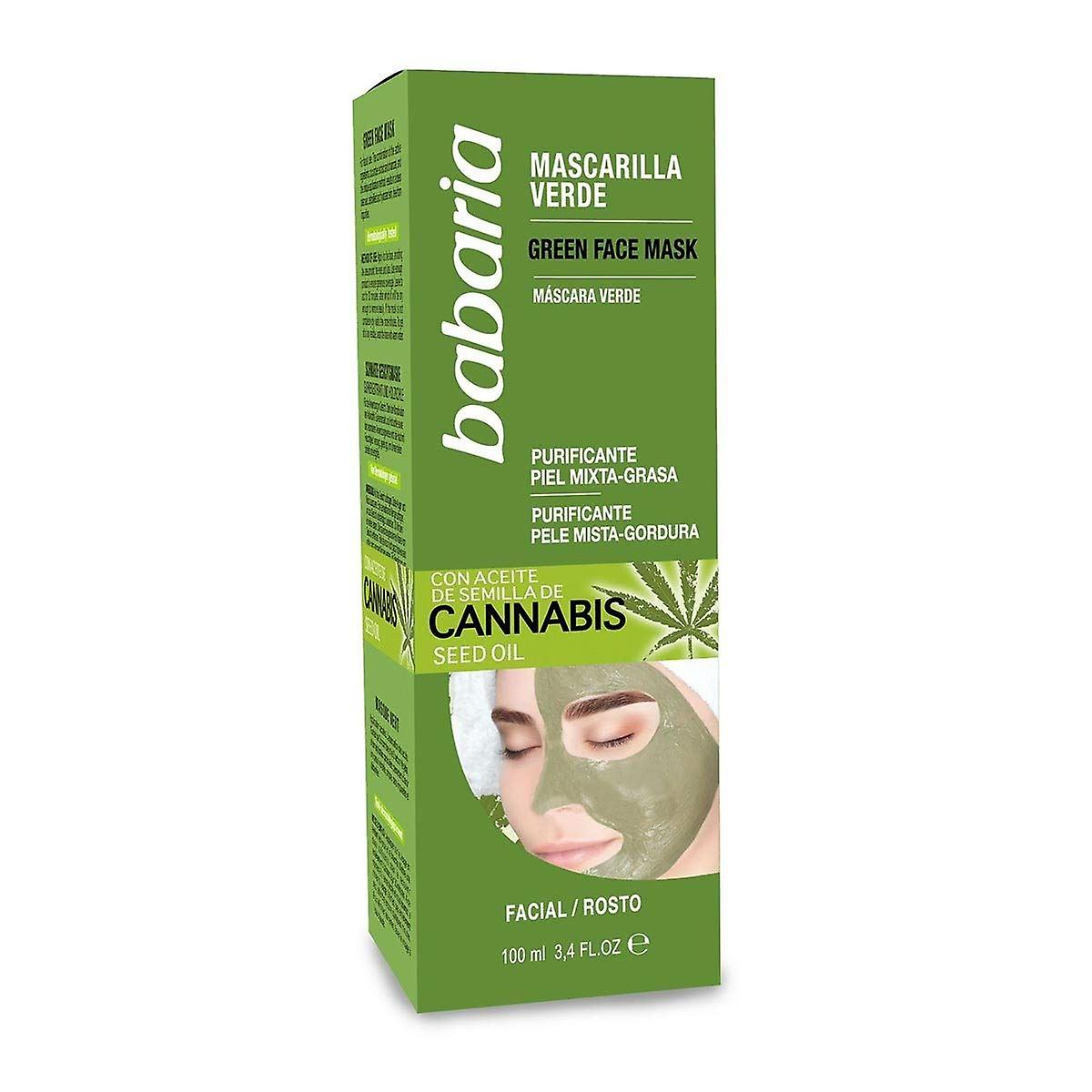 Babaria Face Cannabis 100ml Mask Oily Combination Oil Skin Seed For 0Oknw8P