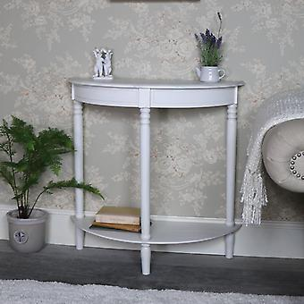 Antique White Half Moon Console Table � Mia Range