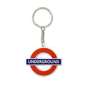 Londres metro roundel UNDERGROUND llavero de goma (GWC)
