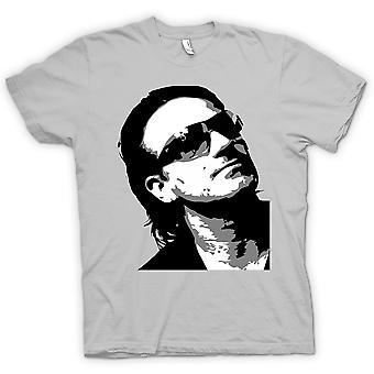 Herren T-Shirt - Bono von U2 - BW