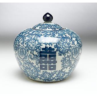 AA importieren 59752 8 Zoll blaue & weißes Glas