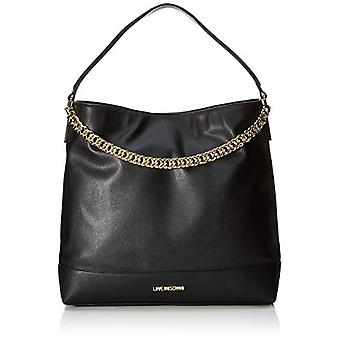 Love Moschino Bag Natural Grain Shoulder Women (Black/Galvanic Gold) 32x10x36 cm (W x H x L)