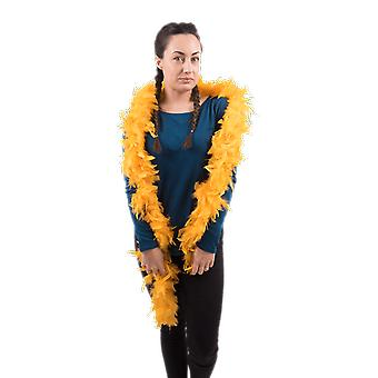 Yellow Feather Boa Fancy Dress Costume Accesory