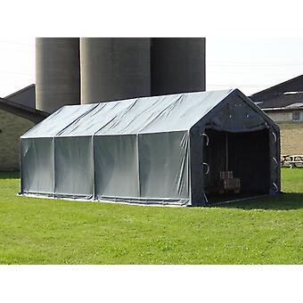Namiot magazynowy PRO Telthal 4x8x2,5x3,6m, PVC, Szary