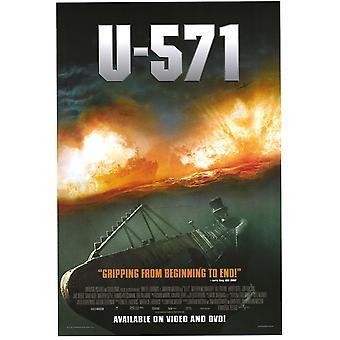 U-571 (Video) (2000) Original Video Poster