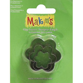 Makin's Clay Cutters 3 Pkg Flower M360 8
