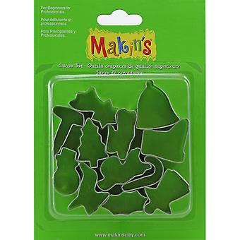 Makin's Clay Cutters 12 Pkg Christmas 37051