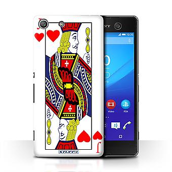 STUFF4 Case/Cover for Sony Xperia M5/Jack of Hearts/Playing Cards