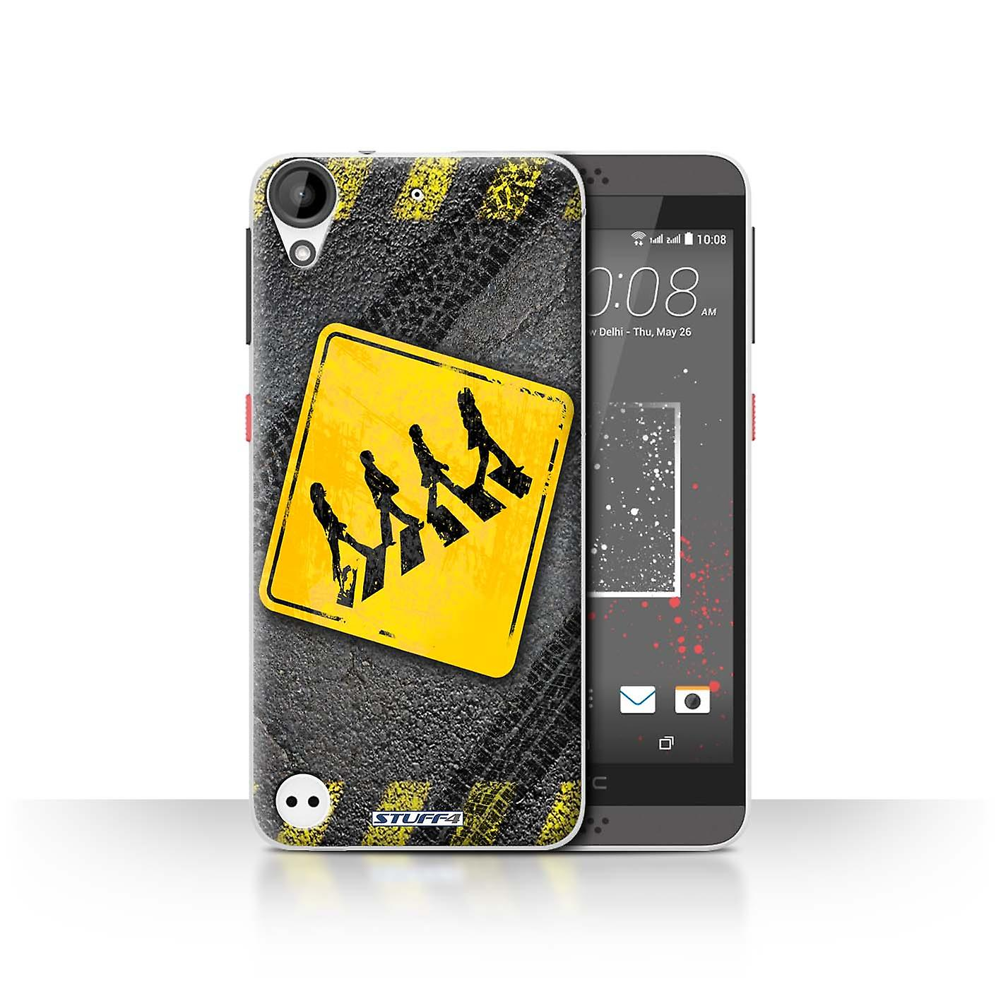 STUFF4 Case/Cover for HTC Desire 630/Zebra Crossing/Funny Road Signs