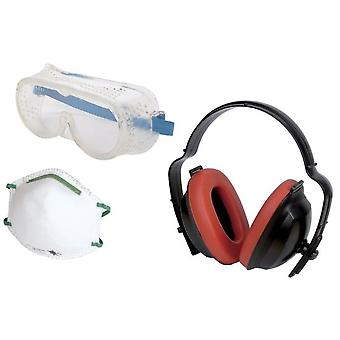 Wolfcraft Game Protection at Work 3 pieces Contents: 1 overall vision goggles 1 antipo mask