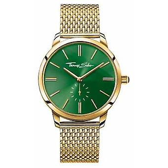 Thomas Sabo Womans Glam Spirit Steel Gold Mesh Strap Green Dial WA0275-264-211-33 Watch