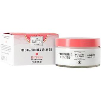 Scottish Fine Soaps Pink Grapefruit & Argan Oil Body Butter Jar