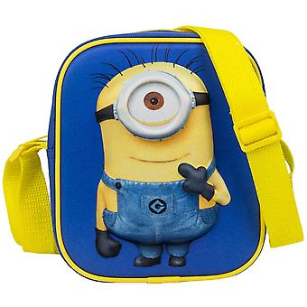 Fabrizio minions children shoulder bag with 3D effect scene