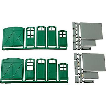 H0 gates and doors (green), steps and ramps