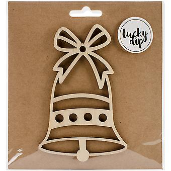 Lucky Dip Wood Flourish-Bell 4.75