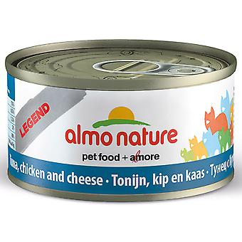 Almo Nature Hfc Natural Cat Adult Tuna Chicken & Cheese 70g (Pack of 24)