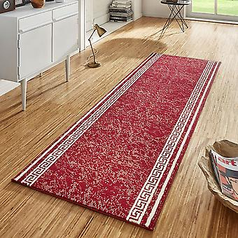Design velour carpet runners bridge Casa Red