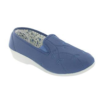 Mirak Womens Bessie Twin Gusset Canvas Ladies Shoes Textile PVC Touch Fastening