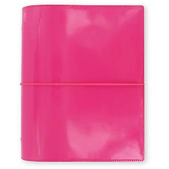 Filofax Domino Patent A5 Organiser Hot P (Hot Pink) (Office Product)