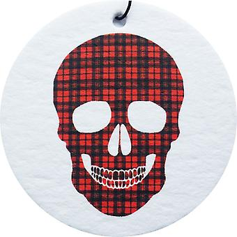 Tartan Skull Car Air Freshener