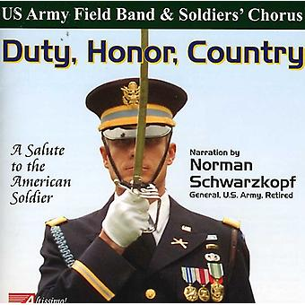 U.S. Army Field Band & Soldier - Duty, Honor, Country: A Salute to the American Soldier [CD] USA import
