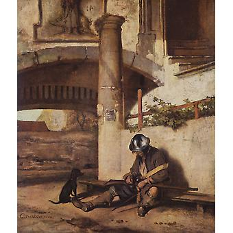 Carel Fabritius - The Sentry Poster Print Giclee