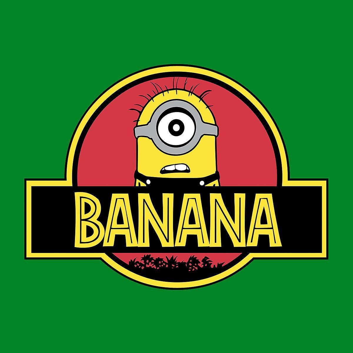 Minions Jurassic Park Banana Men's Hooded Sweatshirt