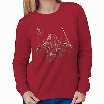 Flame Of Udun Gangdalf Lord Of The Rings Women's Sweatshirt