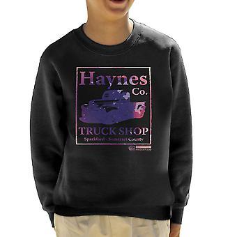 Sudadera Haynes marca carro tienda Sparkford recogida de los niños