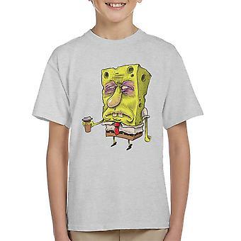 SpongeBob SquarePants voordat koffie Kid's T-Shirt