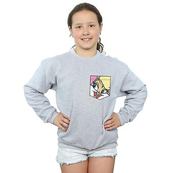 Looney Tunes piger Lola Bunny ansigt Faux lomme Sweatshirt